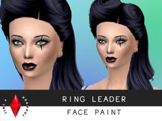 The Sims Resource: Ring Leader Face Paint by SIms4 Krampus • Sims 4 Downloads