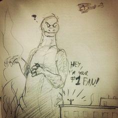 @sketch_dailies #sketch_dailies #sketch #doodle #GODZILLA #kaiju #drawing