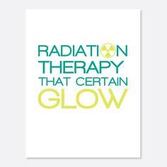 Radiation Glow Warrior/Cancer Card by uluckygirl on Etsy