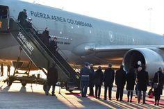 Santos viajó a la capital Noruega con cerca de 30 invitados.