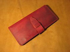 Handmade antique leather wallet for women purse by NancyStudio, $49.50
