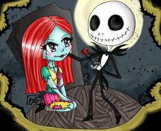 Jack and Sally by ~xxBrokenRavenxx on deviantART