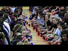 "HAVE A LITTLE FUN  ""Cups"" performed by 1,500 students & staff members at Collège Saint-Bernard in Drummondville, QC Canada. The video was published on YouTube Dec 12th, and has already been viewed over 255,000 times after 10 days!! So wonderfully creative!!!!  (2.49 min)"