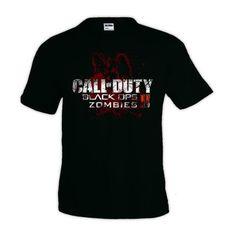Camiseta Call Of Duty Black Ops II zombies manga corta (Talla: Talla L Unisex Ancho/Largo [56cm/74cm] Aprox]) #regalo #arte #geek #camiseta