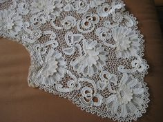 Antique Lace Very Large Handmade Irish Crochet Collar Cape Clones Knots | eBay