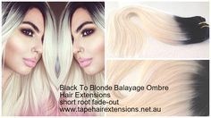Black to Paltinum Blonde Hair Extensions. We supply the worlds best quality and longest Lasting 100% Pure Virgin Remy Tape Hair Extensions, clip in hair extensions, micro-bead hair extensions, weft / weaves, flip-in / halos ponytails and keratin bond hair extensions on the Market. #besthairextensions #russiantapehairextensions #tapehairextensions #virgintapehairextensions #hairextensions