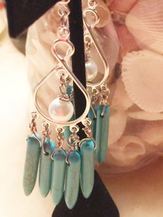 Turquoise Calming Stone Earrings by Lutchies on Etsy https://www.etsy.com/listing/251495587/turquoise-calming-stone-earrings