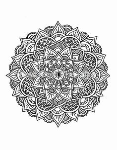 Mandala Coloring Page Mehndi Henna Printable PDF by Katie N. Dunphy
