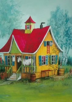 Villa Kunterbunt, Pippi Langstrumpf Easter Wallpaper, Poster Colour, Color Posters, Pippi Longstocking, Cute Cartoon Wallpapers, Stories For Kids, Nude Photography, Children's Book Illustration, Image Collection