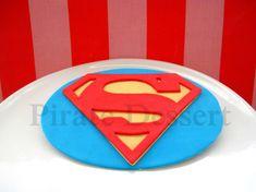 Edible Cake Topper SUPERMAN LOGO Man of Steel by PirateDessert, $18.00