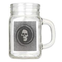 skull in the whirl mason jar - halloween decor diy cyo personalize unique party