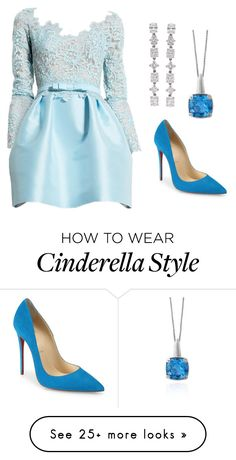 """Cinderella --- MS"" by ale-pink5 on Polyvore featuring Zuhair Murad, Effy Jewelry, Christian Louboutin and Cartier"
