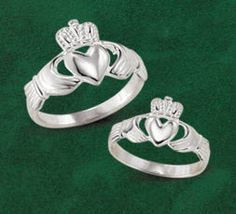 The classic Claddagh ring, made in Ireland.