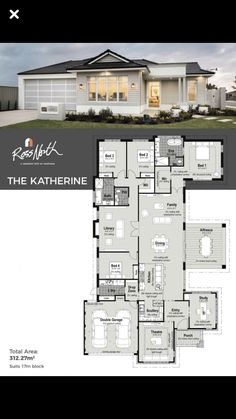 Double Storey House Plans, One Storey House, Modern House Floor Plans, Best House Plans, Sims 4 House Design, Sims House, Duplex Design, Model House Plan, Architectural House Plans