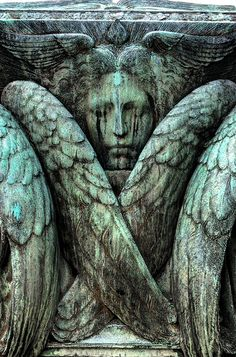 Crying #Angel by copr369, via Flickr appears to be the likeness of a Seraph since it has six wings