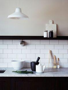 Plan de travail cuisine scandinave en marbre