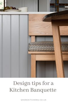 Shere Kitchens make beautiful bespoke handmade wood kitchens in Shere Guildford Surrey Kitchen Seating, Make A Table, Built In Seating, Handmade Kitchens, Bespoke Kitchens, New Kitchen, Kitchen Ideas, Architectural Features, Bespoke Design