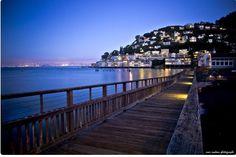 Sausalito, California- across the bay from San Francisco