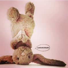 Easter Bunny needs to chill out with some yoga. Photo taken by @innerblissforlife on Instagram. Pinned by yogapad.com.au