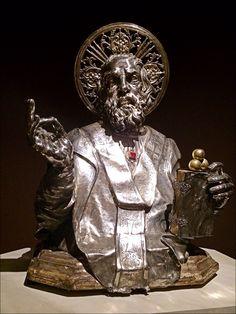 Reliquaire de saint Nicolas du trésor de saint Janvier de Naples actuellement en présentation à Paris au Musée Maillol.
