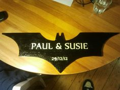 Batman Symbol Wedding Present....some one PLEASE get this for us as a wedding gift!!!!! PLEASE!!!!!!!!!!!!