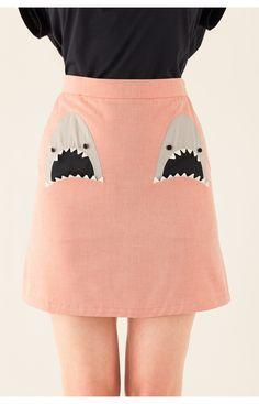 ✓ Gonna con tasche a forma di squalo | Lazzari