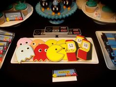 Awesome cookies at an Arcade party!  See more party ideas at CatchMyParty.com!