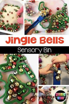 This jingle bells sensory bin sure brought out my toddlers' Christmas spirit with containers, magnets, and musical bells! Perfect for a Christmas preschool theme! Christmas Activities For Toddlers, Holiday Activities, Preschool Activities, Indoor Activities, Summer Activities, Family Activities, Toddler Sensory Bins, Toddler Crafts, Sensory Play