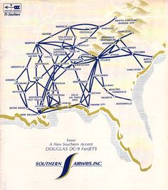 my first airline... was Southern Airways.  I worked for them for 13 years.  What a fun time.
