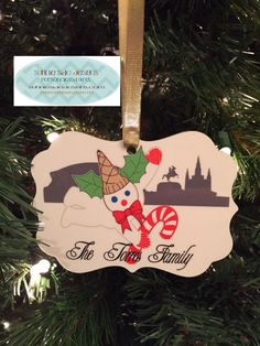 Mr. Bingle over New Orleans Skyline Ornament  Personalized by SunnieSideDesigns on Etsy