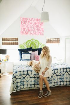 Style At Home: Jen Coleman Of Ascot + Hart   Loving this breezy and bold bedroom
