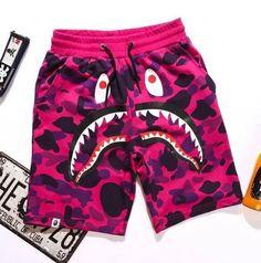 BAPE Camo Shark Shorts