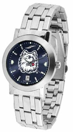 Connecticut Huskies UCONN NCAA Mens Modern Wrist Watch by SunTime. $80.95. AnoChrome Dial Option. Links Make Watch Adjustable. Stainless Steel Band. Men. Officially Licensed Connecticut Huskies Men's Watch Stainless Steel. The Mens Dynasty AnoChrome Watch has an Elegant design for the modern man who wants to show their team spirit! The dial is presented in a sleek stainless steel case and bracelet that rests fashionably yet comfortably across the wrist. Features a conve...