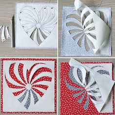 Free Heart Pattern for Coasters- reverse applique.