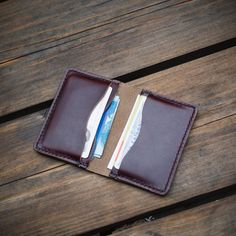 Ready to take on Sunday with my Burgundy 5 card wallet.