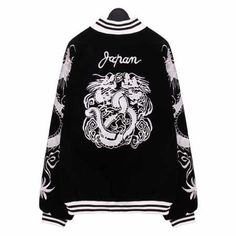 Pin by throw pillows home on dragon bomber jacket pinterest embroidered bomber jacket dragon pattern black jackets chinese style spring wear bomber jackets dragons smock tops train your dragon ccuart Choice Image