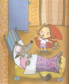 Los duendes y hadas de Ludi: Actividades sobre el cuento de Caperucita roja.