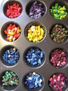 crayons. i need to do this to all of the broken crayons in my classroom