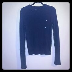 NWT AMERICAN EAGLE BLUE SWEATER SIZE SMALL AMERICAN EAGLE BLUE SWEATER SIZE SMALL.....new with tags...no stains....the clear circle on top it's just the size American Eagle Outfitters Sweaters