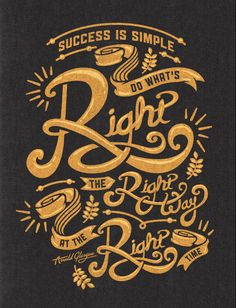 Right Way Signs by Kendrick Kidd - and more hand lettered posters
