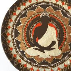 Dot art mandala Buddhist wall decor Bronze Buddha BronzeClick the link now to find the center in you with our amazing selections of items ranging from yoga apparel to meditation space decor! Zen Painting, Buddha Painting, Dot Art Painting, Mandala Painting, Painting With Dots, Madhubani Art, Madhubani Painting, Buddha Wall Art, Indian Art Paintings