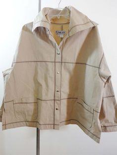 Paul Sisti jacket lagenlook artsy art to wear quirky designer khaki artist sz XL #PaulSisti #BasicJacket