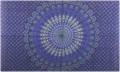 Sanganeer - Blue - Tapestry, 104 in. x 68 in., SKU: ta-34