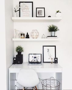 "548 Likes, 24 Comments - Workspace Goals 👈 (@workspacegoals) on Instagram: ""Starting our feed with this white workspace regram from Hayley @taylor.dbeauty in Australia ☀️ We…"""