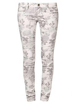 Mavi SERENA Jeans Slim Fit black/white floral @Zalando
