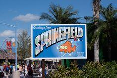 Simpsons Springfield, USA at Universal Studios Florida, via goodfoodstories.com