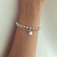 You do things… Tiffany Bead Bracelet, Tiffany And Co Jewelry, Tiffany Bracelets, Tiffany Necklace, Silver Bracelets, Silver Jewelry, Beaded Bracelets, Cute Jewelry, Jewelry Accessories