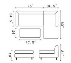 Furniture Design With Dimension chesterfield dimensions 1 | interior design | pinterest