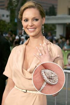 Famous PearShaped Engagement Rings Celebrity Diamonds Halo