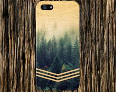 Geometric Gold Glitter Navy Blue Wood Phone Case by CaseEscape